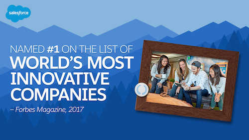 Salesforce Ranked as #1 Most Innovative Company by Forbes!